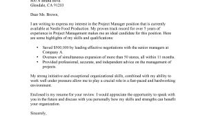 Nestle Cover Letter Cover Letter for Project Manager at Nestle Shannon Hamid