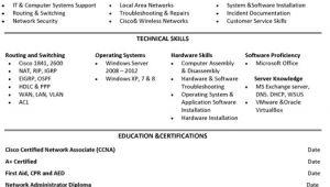 Network Administrator Resume Sample Jr Network Administrator Resume Sample Template