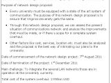 Network Design Proposal Template Network Design Proposal Sample Proposals