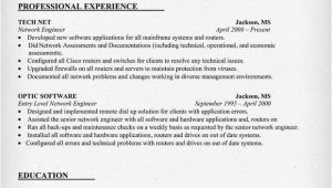 Network Engineer Basic Resume Network Engineer Resume Sample Resumecompanion Com