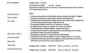 Network Engineer Responsibilities Resume Network Engineer Resume It Example Sample Technology