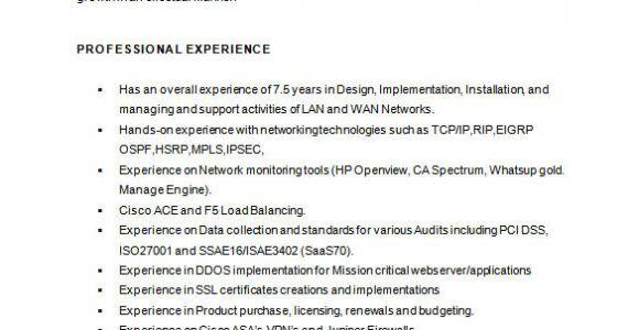 Network Engineer Resume Keywords 6 Network Engineer Resume Templates Psd Doc Pdf