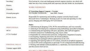 Network Engineer Resume Sample for Fresher 6 Network Engineer Resume Templates Psd Doc Pdf