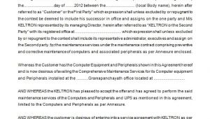 Network Maintenance Contract Template 15 Maintenance Contract Templates Word Pdf Apple