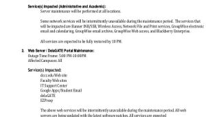 Network Maintenance Email Template Maintenance Notice Templates 8 Free Word Pdf format