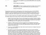 Network Service Contract Template Agreement with Provider Of Network Services Template