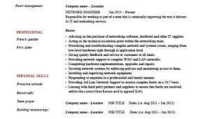 Network Support Engineer Resume Network Engineer Resume It Example Sample Technology