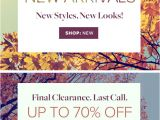 New Arrivals Email Template Seasonal Email Templates Add Hues to Your Email Campaign