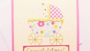 New Baby Girl Card Handmade New Baby Congratulations Card Handmade Baby Girl Welcome