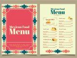 New Modern Cafe Menu Card Vektor Mexikanisches Essen Menu Download Kostenlos Vector