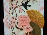 New Year Card Making Handmade Kaisercraft Hanami Gardens Handmade by Kay asian Cards