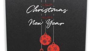 New Year Card with Name Moderne Weihnachtskarte Zugunsten Make A Wish Deutschland