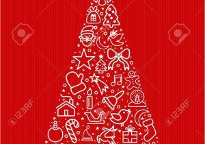 New Year Greeting Card Handmade Merry Christmas and Happy New Year Greeting Card Design Red