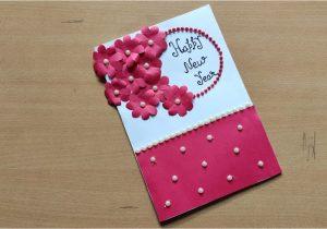 New Year Greeting Card Handmade Simple New Year Card Making Simple New Year Card Making