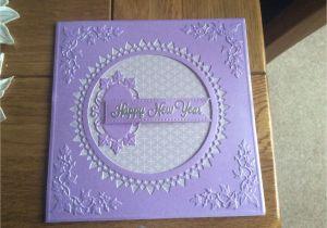 New Year Greetings Card Design Handmade New Year Card Using tonic Circle and Sue Wilson Greek