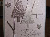New Year Greetings Card Design Handmade Su Festival Of Trees Stamp Set Tree Punch Silver