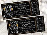 New Year Party Invitation Card Amazon Com New Year S Eve Party Ticket Invitations New