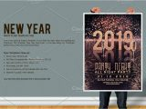 New Year Party Invitation Card New Year Party Flyer by Firststyle On Creativemarket
