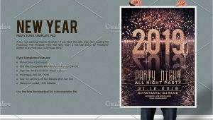 New Year Party Invitation Card Template New Year Party Flyer by Firststyle On Creativemarket