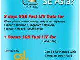 New Zealand Sim Card Name Super Se asia Roaming Sim Von Csl 5 Gb 1 Gb Hongkong