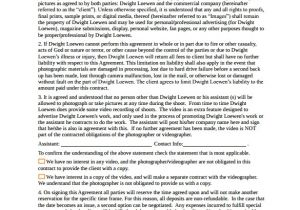 Newborn Photography Contract Template 12 Photography Contract Templates Pdf Word Pages