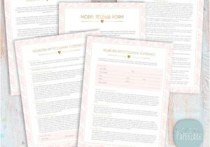 Newborn Photography Contract Template Newborn Photography Contract forms Bundle Templates