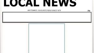 Newpaper Template Blank Newspaper Template Cyberuse