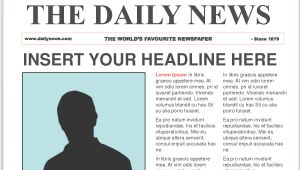 Newpaper Template Free Newspaper Template Cyberuse