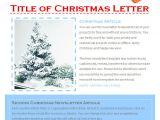 Newsletter Free Templates On Microsoft Word 17 Christmas Newsletter Templates Free Psd Eps Ai