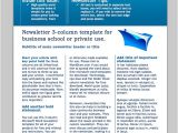 Newsletter Free Templates On Microsoft Word Business Newsletter Templates Free Sanjonmotel