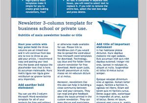 Newsletter Outline Template Word Newsletter Template 31 Free Printable Microsoft
