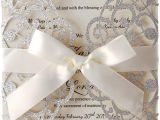 Nice Things to Write In A Wedding Card Hosmsua 20x Laser Cut Lace Flora Wedding Invitation Cards with Ribbon Bow and Envelopes for Bridal Shower Engagement Birthday Graduation Party 20pcs