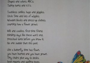 Nice Words to Write In A Farewell Card Preschool Poem for End Of Year I Don T Think I Could Read
