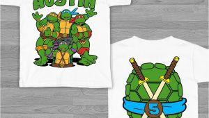 Ninja Turtles Happy Birthday Card Blue Tmnt Teenage Mutant Ninja Turtles Birthday Shirt