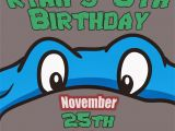 Ninja Turtles Happy Birthday Card Ninja Turtles Invitation Tmnt Teenage Mutant Ninja Turtles