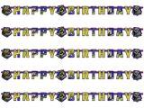 Ninja Turtles Happy Birthday Card Partykette Teenage Mutant Ninja Turtles Mit Happy Birthday Fur Party Und Geburtstag Kindergeburtstag Kinder Feier Fete Set Banner Girlande