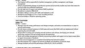 Noc Engineer Resume Noc Engineer Resume Samples Velvet Jobs