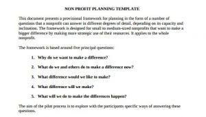 Nonprofit Business Plan Template Free Download 21 Non Profit Business Plan Templates Pdf Doc Free
