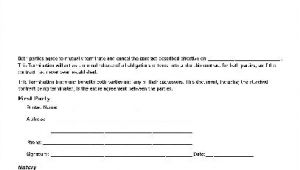 Notary Contract Template Free Notarized Termination Of Contract Individual to