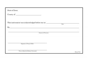 Notary Receipt Template 6 Best Images Of Notarized Receipt Of Payment Notary