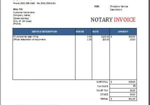 Notary Receipt Template Notary Invoice Template Excel format Word Excel Templates