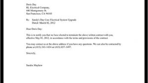 Notice Of Termination Of Contract Template Notice Of Termination Of Contract Notice Letter with