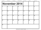 November 2014 Blank Calendar Template November 2014 Printable Calendar Freepsychiclovereadings Com