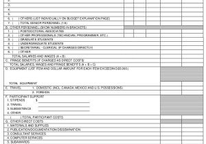 Nsf Budget Template 40 Sample Budget forms Sample Templates