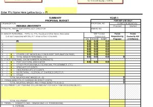 Nsf Budget Template 8 Nsf Proposal Template Timeline Template