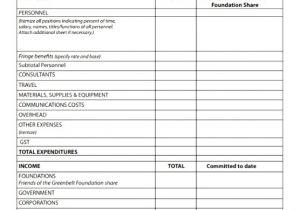 Nsf Budget Template 9 Nsf Budget Template Pryyt Templatesz234