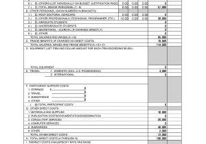 Nsf Budget Template form Preparation Part 2 Nsf Sbir