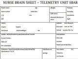 Nursing Brains Template Nurse Brain Sheets Telemetry Unit Sbar Scrubs the