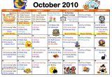 Nursing Home Activity Calendar Template 9 Best Images Of Weekly Activity Calendar Template