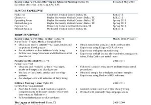 Nursing Student Resume Clinical Experience Sample Nursing Student Resume 8 Examples In Word Pdf